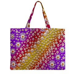 Falling Flowers From Heaven Medium Tote Bag
