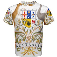 Coat Of Arms Of Australia Men s Cotton Tee by abbeyz71