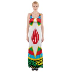 National Emblem Of Azerbaijan Maxi Thigh Split Dress by abbeyz71