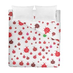 Beetle Animals Red Green Fly Duvet Cover Double Side (full/ Double Size) by Amaryn4rt