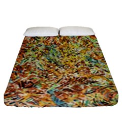 Art Modern Painting Acrylic Canvas Fitted Sheet (queen Size) by Amaryn4rt