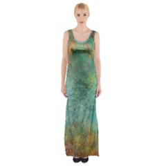 Rainforest Maxi Thigh Split Dress by digitaldivadesigns