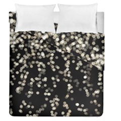 Christmas Bokeh Lights Background Duvet Cover Double Side (queen Size) by Amaryn4rt