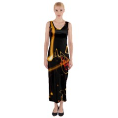 Abstract Fitted Maxi Dress by Amaryn4rt