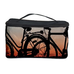 Bicycles Wheel Sunset Love Romance Cosmetic Storage Case