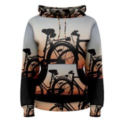 Bicycles Wheel Sunset Love Romance Women s Pullover Hoodie