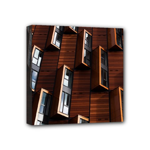 Abstract Architecture Building Business Mini Canvas 4  X 4