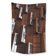 Abstract Architecture Building Business Large Tapestry