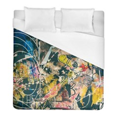Art Graffiti Abstract Vintage Lines Duvet Cover (full/ Double Size) by Amaryn4rt