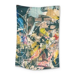 Art Graffiti Abstract Vintage Lines Small Tapestry by Amaryn4rt