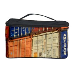 Blue White Orange And Brown Container Van Cosmetic Storage Case by Amaryn4rt