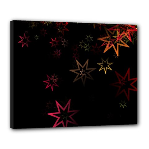 Christmas Background Motif Star Canvas 20  X 16