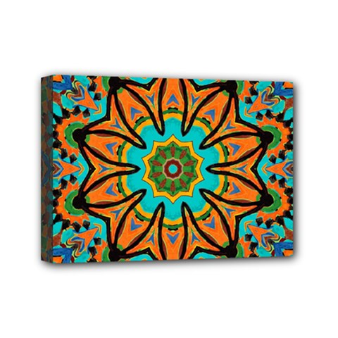 Color Abstract Pattern Structure Mini Canvas 7  X 5  by Amaryn4rt