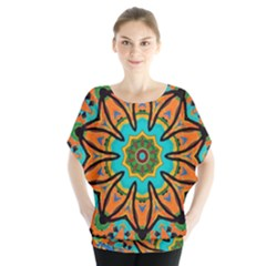Color Abstract Pattern Structure Blouse by Amaryn4rt