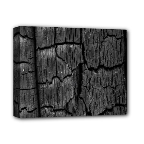 Coal Charred Tree Pore Black Deluxe Canvas 14  X 11  by Amaryn4rt