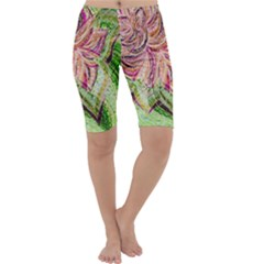Colorful Design Acrylic Cropped Leggings