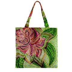Colorful Design Acrylic Zipper Grocery Tote Bag