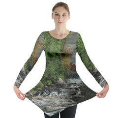 Landscape Summer Fall Colors Mill Long Sleeve Tunic