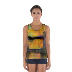 London Tower Abstract Bridge Women s Sport Tank Top