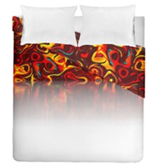 Effect Pattern Brush Red Duvet Cover Double Side (queen Size)
