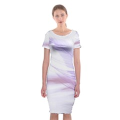 Ring Feather Marriage Pink Gold Classic Short Sleeve Midi Dress by Amaryn4rt