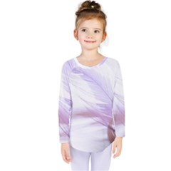 Ring Feather Marriage Pink Gold Kids  Long Sleeve Tee by Amaryn4rt