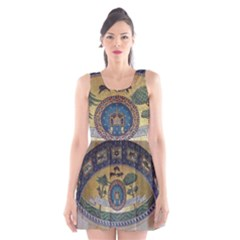 Peace Monument Werder Mountain Scoop Neck Skater Dress