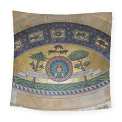 Peace Monument Werder Mountain Square Tapestry (large) by Amaryn4rt