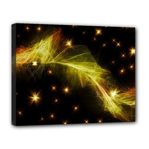 Particles Vibration Line Wave Canvas 14  X 11  by Amaryn4rt