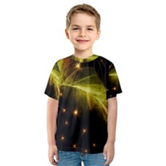 Particles Vibration Line Wave Kids  Sport Mesh Tee by Amaryn4rt