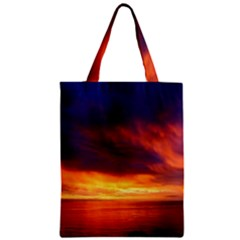Sunset The Pacific Ocean Evening Zipper Classic Tote Bag