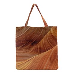 Sandstone The Wave Rock Nature Red Sand Grocery Tote Bag by Amaryn4rt