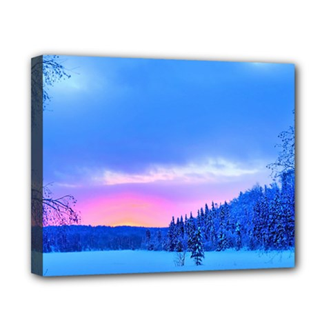 Winter Landscape Snow Forest Trees Canvas 10  X 8  by Amaryn4rt