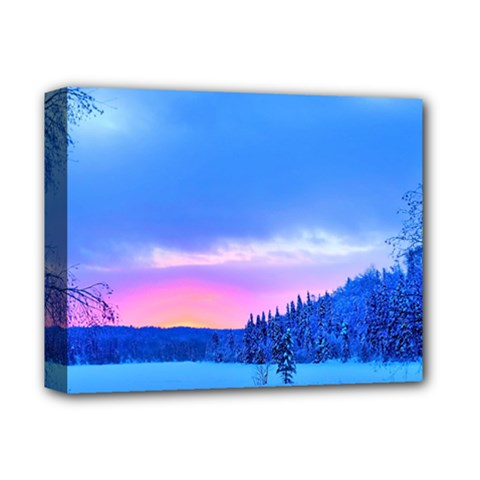 Winter Landscape Snow Forest Trees Deluxe Canvas 14  X 11  by Amaryn4rt