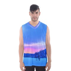 Winter Landscape Snow Forest Trees Men s Basketball Tank Top by Amaryn4rt