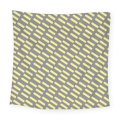 Yellow Washi Tape Tileable Square Tapestry (large)
