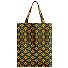 Arabesque Flower Yellow Zipper Classic Tote Bag