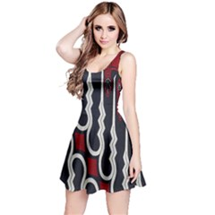 Batik Jogja Red Black Reversible Sleeveless Dress by AnjaniArt