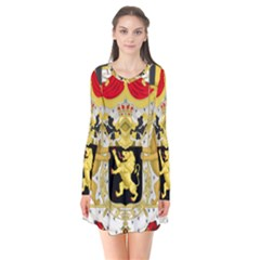 Great Coat Of Arms Of Belgium Flare Dress