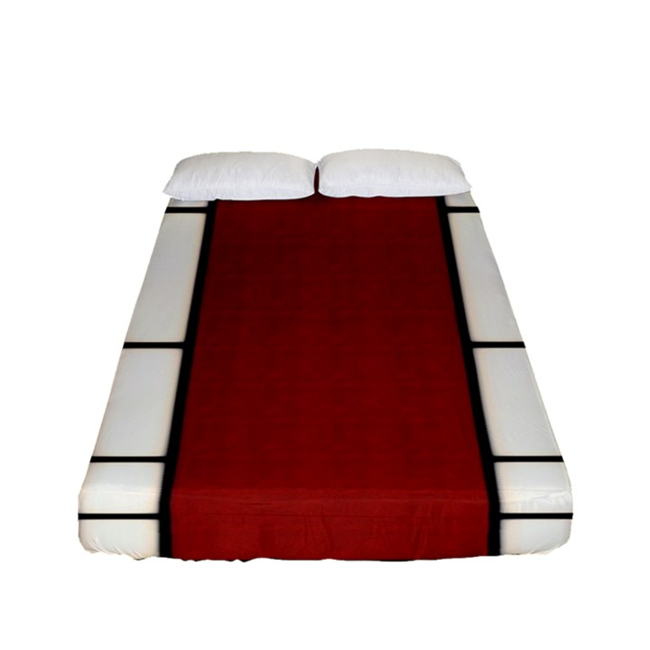 SHOJI - RED Fitted Sheet (Full/ Double Size)