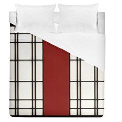 Shoji   Red Duvet Cover (queen Size) by Tatami
