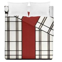 Shoji   Red Duvet Cover Double Side (queen Size) by Tatami