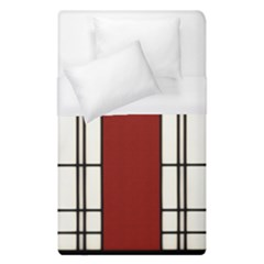 Shoji   Red Duvet Cover (single Size)
