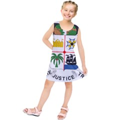 Coat Of Arms Of Benin Kids  Tunic Dress