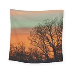 Twilight Sunset Sky Evening Clouds Square Tapestry (small)
