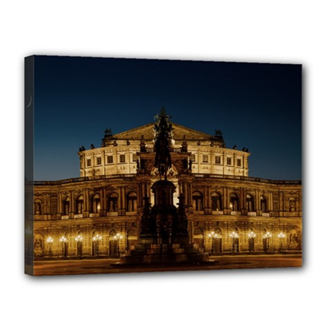 Dresden Semper Opera House Canvas 16  X 12  by Amaryn4rt