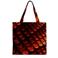 Fractal Mathematics Frax Zipper Grocery Tote Bag
