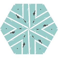 Birds Trees Birch Birch Trees Mini Folding Umbrellas