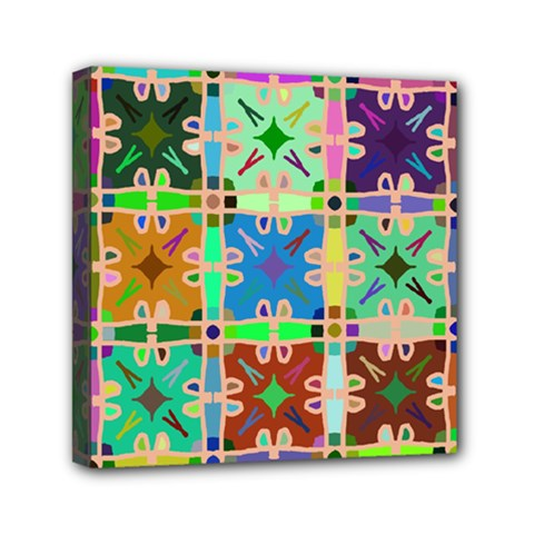 Abstract Pattern Background Design Mini Canvas 6  X 6