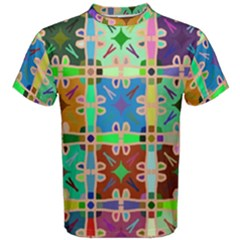 Abstract Pattern Background Design Men s Cotton Tee